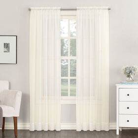 Eggshell Emily Viole Window Curtain Panel 95-in