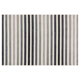 Picture of A300 Black and Grey Micro Stripe Rug