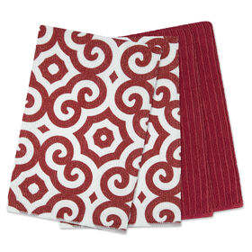 Picture of Red Micro Dish Clothes - 4 Pack