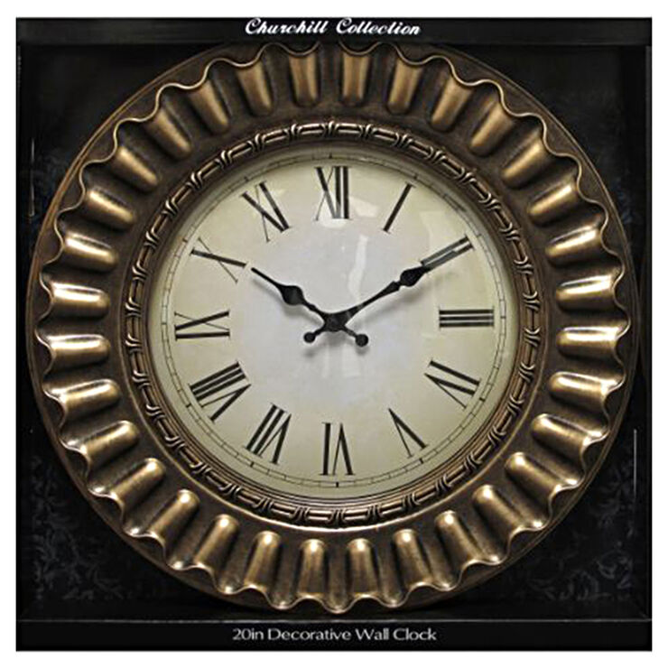 20-in Decorative Edge Roman Numeral Clock