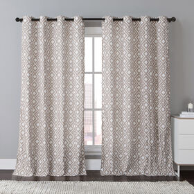 Picture of Cyrus Printed Taupe Curtains