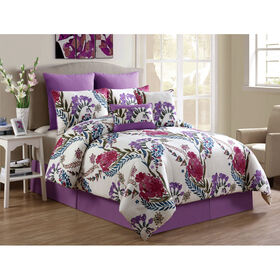 Picture of Floral Annalise Comforter Set Queen- 8 Piece