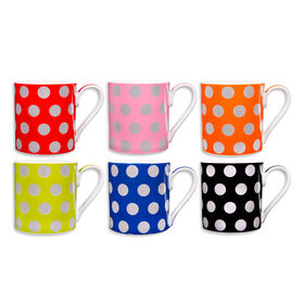 Picture of Silver Dots Mug- 17oz- Assortment of 6