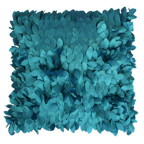 Picture of Baltic Blue Textured Decorative Pillow- 18-in