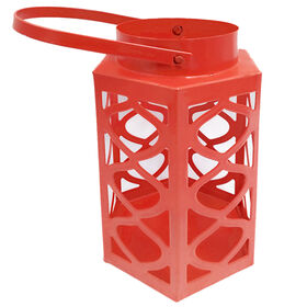 Picture of Red Metal Lantern- 4x4x6 in.