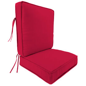 Picture of Red 2 Piece Deep Seat Cushion