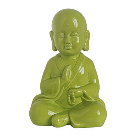 Picture of Green Ceramic Little Monk- 8.5 in.