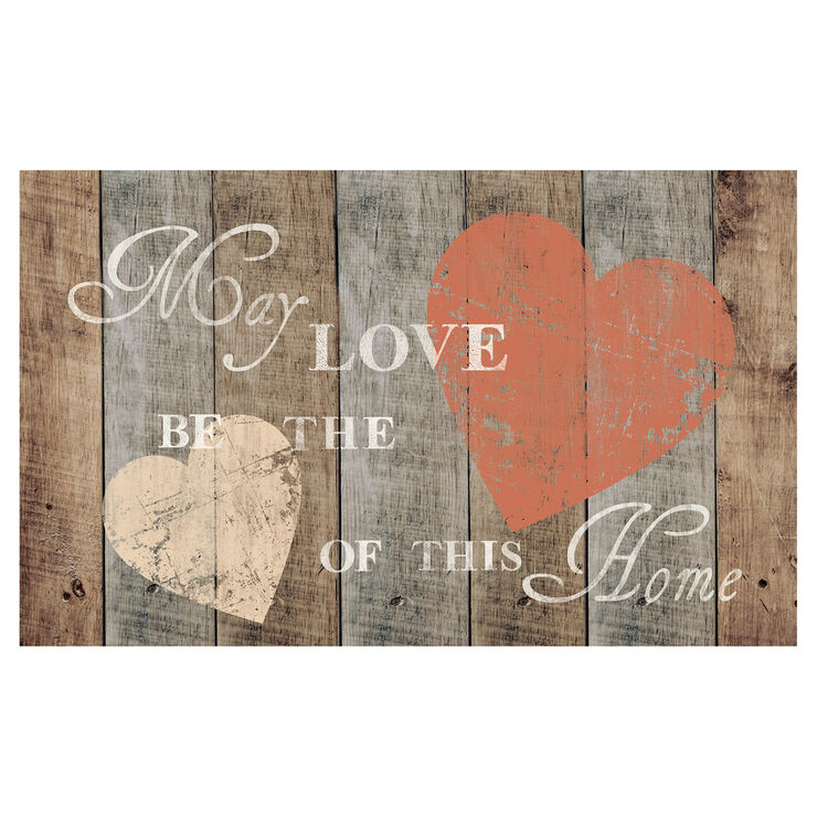 Rustic Heart Map- 18 X 30 in.