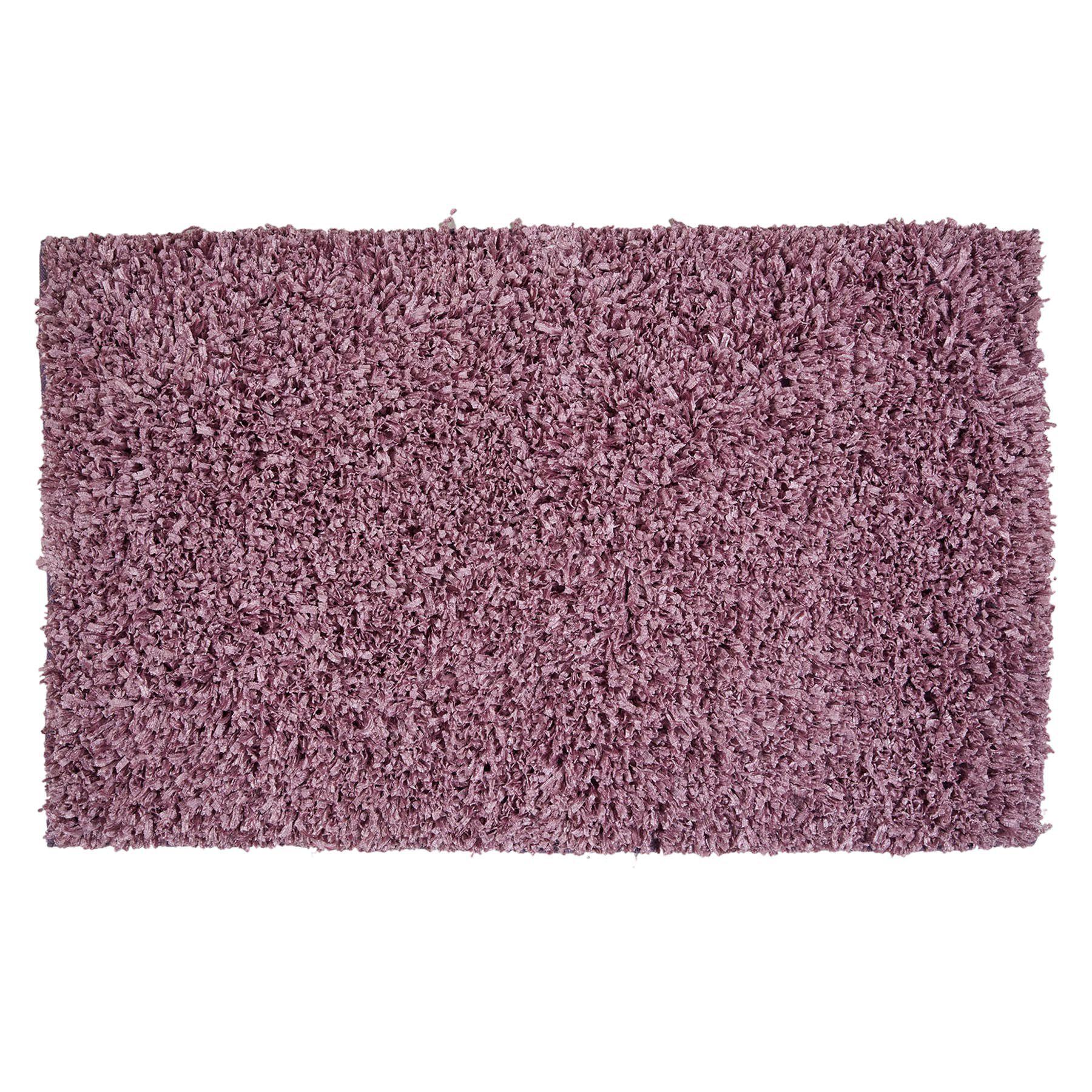 Purple Shiny Fur Shag Rug 3 X 5 Ft