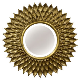 Picture of 36 X 36-in Antique Gold Beveled Sunflower Mirror