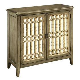 Picture of 2-Door Mirrored Cabinet, Antiqued