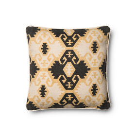 Picture of Yellow and Black Tribal Pattern 18-in
