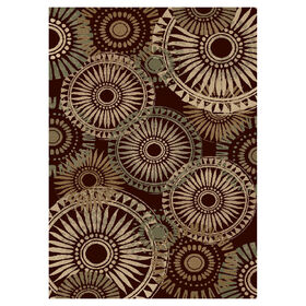 Picture of Dark Wine Rondelle Rug 8 X 10 ft