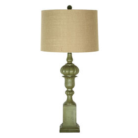 Picture of Green Column Table Lamp (shade sold separately)