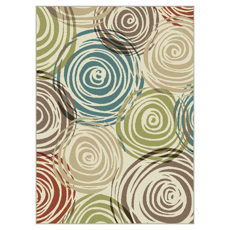 Multicolor Studio Swirls Rug- 5x7 ft