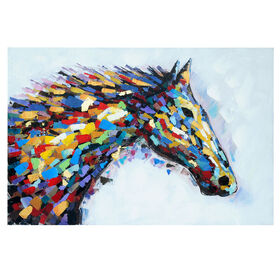 Picture of 32X48 Colorful Horse Wall Art