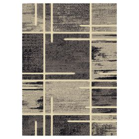 Picture of B324 Grey Abstract Square Rug