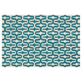 Picture of A254 Ivory and Teal Weston Rug
