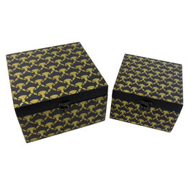 Picture of Small Black and Gold Print Box