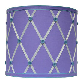 Picture of Purple Button Lamp Shade - 10 X 10 X 9