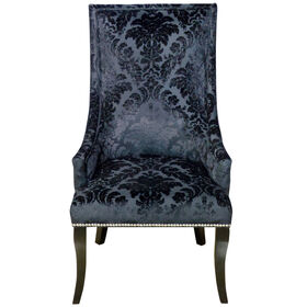 Picture of Chatham Black Velvet Damask Chair