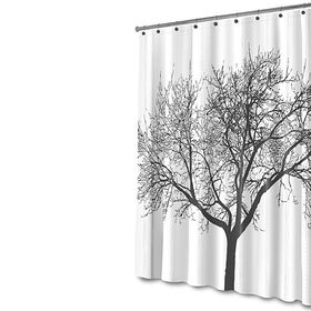 Picture of Tree Shower Curtain, Black