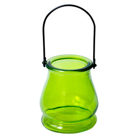 Picture of Green Glass Votive Holder- 3.5x4 in.
