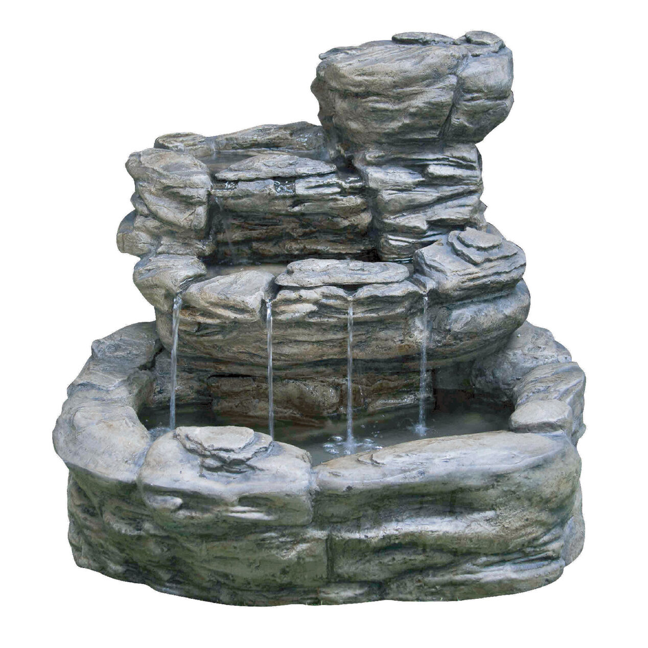 Rock waterfall fountain at home for Waterfall fountain
