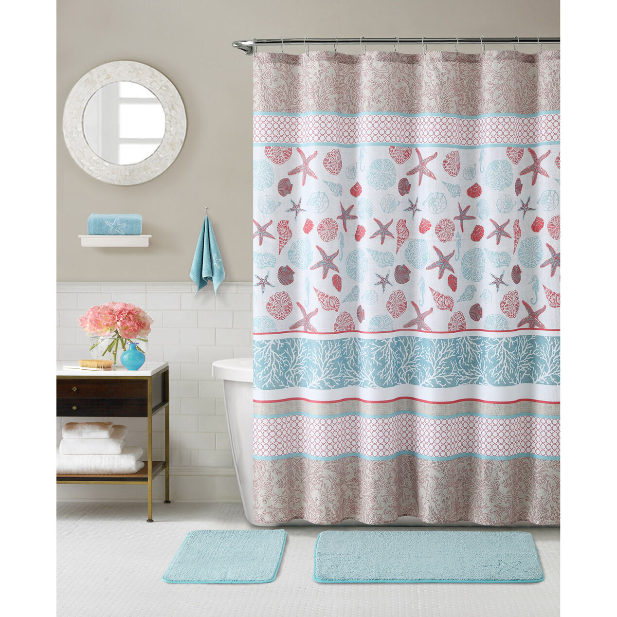 Light turquoise shower curtain - Harbor Lights Shower Curtain Multi Colored