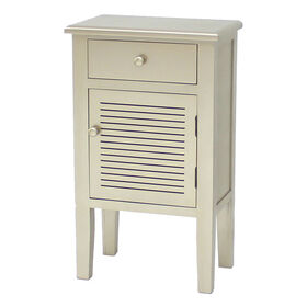 Picture of 1-Door Shutter Cream Cabinet with 1-Drawer