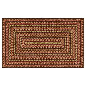 Picture of Multicolor Braided Red Rug 28 X 48-in