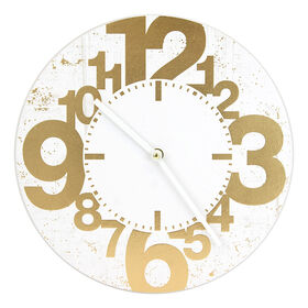 Picture of AC 12X12 MDF CLOCK GOLD