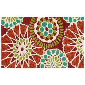Picture of E160 Red and Teal Accent Rug- 18x30 in.