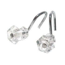 Picture of Chrome Glass Shower Hooks
