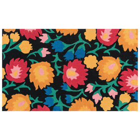 Picture of Juli Floral Black Rug 27X45
