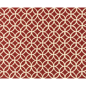 Picture of Indoor & Outdoor Red and Ivory Geometric Beach Rug 8 X 10 ft