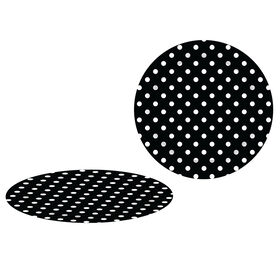 Picture of 8  RND B W BLACK W WHITE DOTS