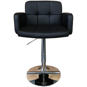 Picture of Brahms Adjustable Swivel Barstool - Black/Chrome
