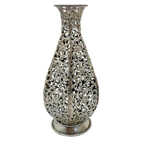 Picture of Metal Round Bottom Vase- 10.6-in
