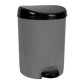Picture of 8 Quart Step-On Wastebasket - Black