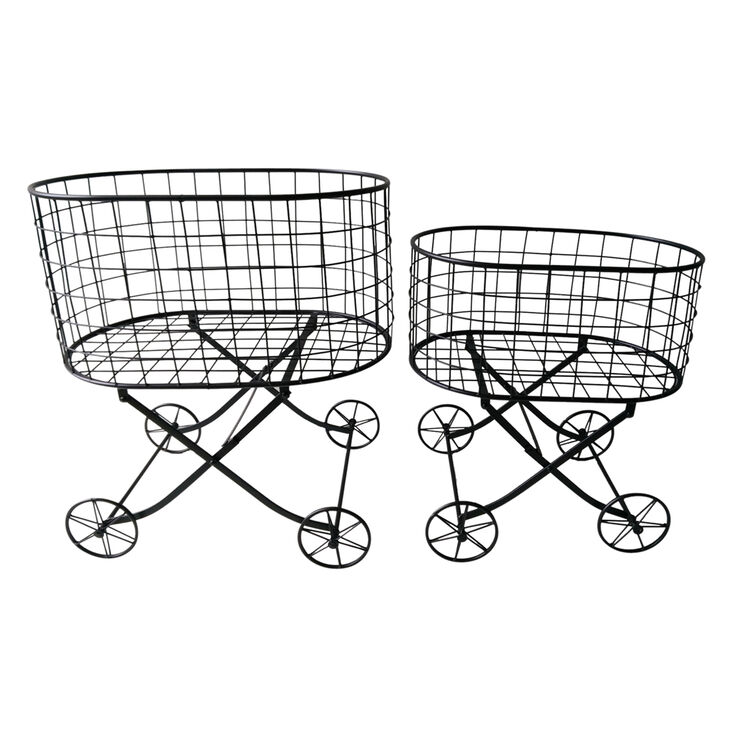 Large Black Wire Cart- 27-in