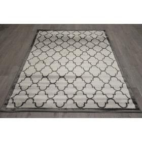 Picture of D317 QUATREFOIL GRY/BLK 8X10