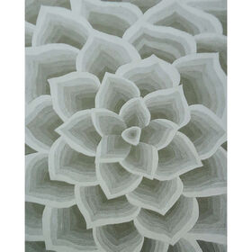 Picture of A168 Beige Tufted Petals Rug