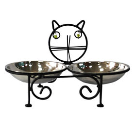 Picture of Raised Cat Water and Food Bowl Set