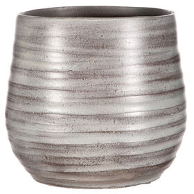 Picture of Ribbed Planter- Grape 9-in