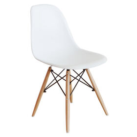 Picture of White Eiffel Chair with Wood Legs