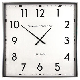 Picture of Glenmont Chrome Contemporary Clock, 40-in.
