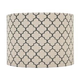 Picture of Blue Moroccan Print Lamp Shade 14x14x10-in