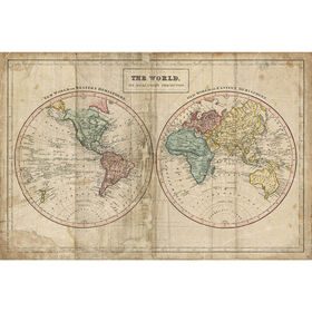 Picture of SA TEX FR 24X36 OLD WORLD MAP