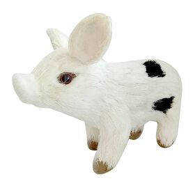 Picture of Large White and Black Sisal Pig